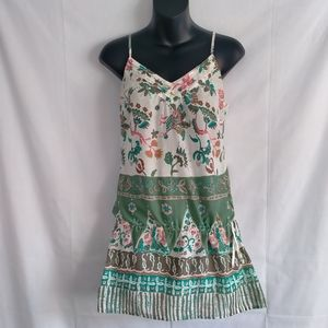 Jeanswest Size 10 Floral Paisley Singlet Tank Top